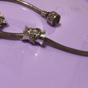 Jewelry - 925 sterling silver snake twirl charm
